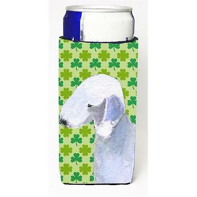 Bedlington Terrier St. Patricks Day Shamrock Portrait Michelob Ultra bottle s...