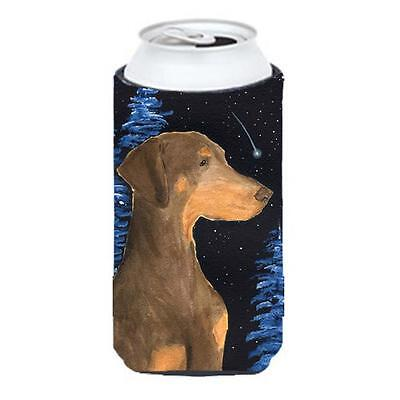 Starry Night Doberman Tall Boy bottle sleeve Hugger 22 To 24 oz.