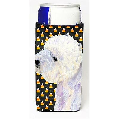 Westie Candy Corn Halloween Portrait Michelob Ultra bottle sleeves For Slim C...