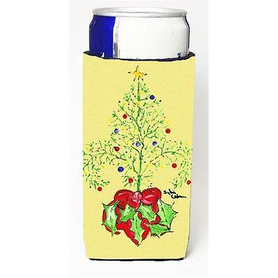 Christmas Tree Fleur De Lis Michelob Ultra bottle sleeve for Slim Can