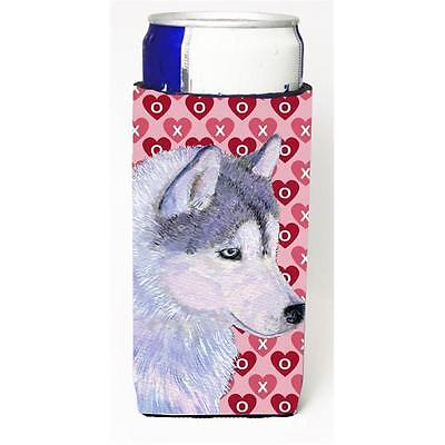 Siberian Husky Hearts Love Valentines Day Michelob Ultra bottle sleeves For S...