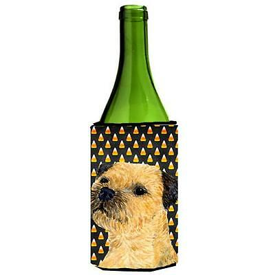 Border Terrier Candy Corn Halloween Portrait Wine bottle sleeve Hugger 24 oz.