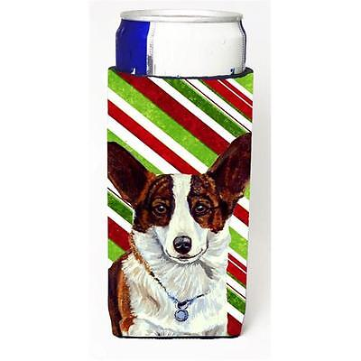 Corgi Candy Cane Holiday Christmas Michelob Ultra bottle sleeves For Slim Can...