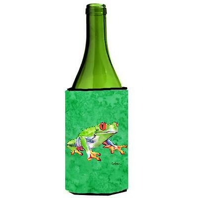 Carolines Treasures 8688LITERK Green Tree Frog Wine bottle sleeve Hugger 24 oz. • AUD 48.26