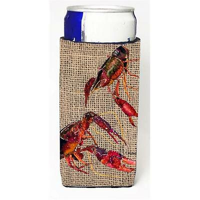 Crawfish On Faux Burlap Michelob Ultra bottle sleeves For Slim Cans 12 oz.