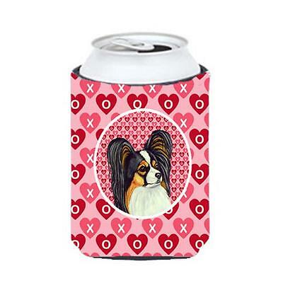 Papillon Valentines Love and Hearts Can or bottle sleeve Hugger