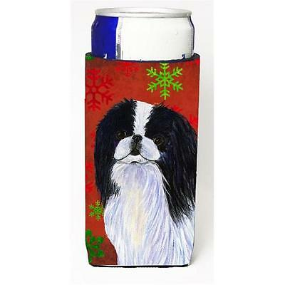 Japanese Chin Red And Green Snowflakes Holiday Christmas Michelob Ultra bottl...
