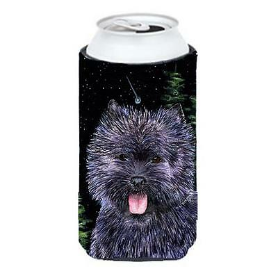 Starry Night Cairn Terrier Tall Boy bottle sleeve Hugger 22 To 24 oz.