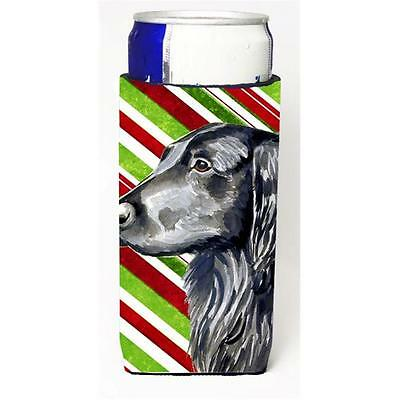 Flat Coated Retriever Candy Cane Holiday Christmas Michelob Ultra bottle slee...