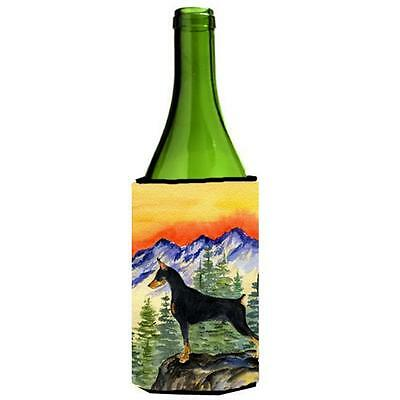 Carolines Treasures SS8284LITERK Doberman Wine bottle sleeve Hugger 24 oz.