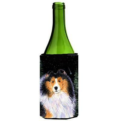 Carolines Treasures Starry Night Collie Wine bottle sleeve Hugger 24 oz.