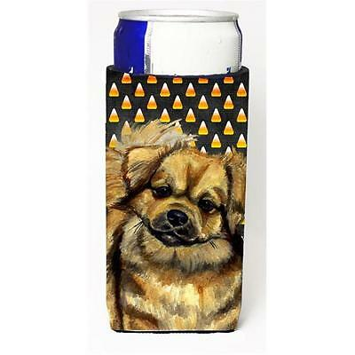 Tibetan Spaniel Candy Corn Halloween Portrait Michelob Ultra bottle sleeves F...