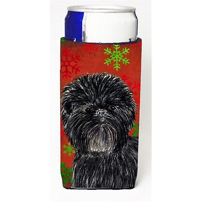 Affenpinscher Red Green Snowflakes Christmas Michelob Ultra bottle sleeves Fo...