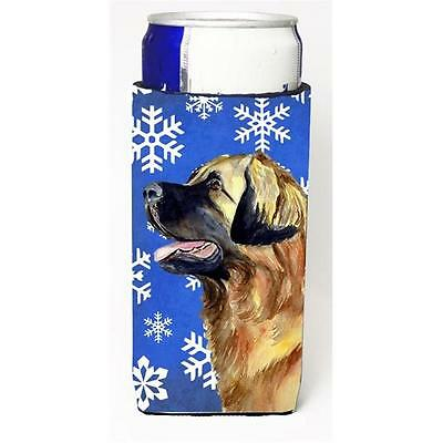 Leonberger Winter Snowflakes Holiday Michelob Ultra bottle sleeves For Slim C...