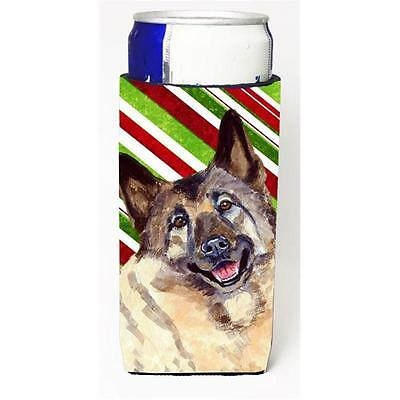 Norwegian Elkhound Candy Cane Holiday Christmas Michelob Ultra bottle sleeves...