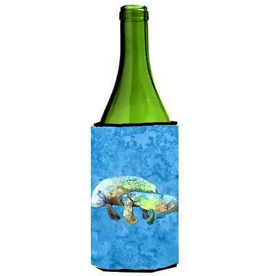Carolines Treasures Manatee Momma And Baby Wine bottle sleeve Hugger 24 oz.