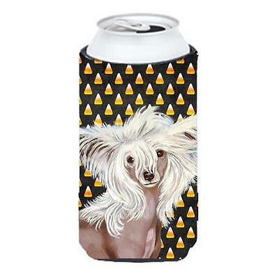 Chinese Crested Candy Corn Halloween Portrait Tall Boy bottle sleeve Hugger 2...