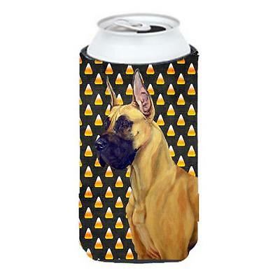 Great Dane Candy Corn Halloween Portrait Tall Boy bottle sleeve Hugger 22 To ... • AUD 47.47