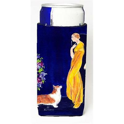 Lady With Her Corgi Michelob Ultra bottle sleeves For Slim Cans 12 oz.