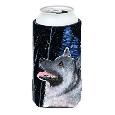 Starry Night Norwegian Elkhound Tall Boy bottle sleeve Hugger