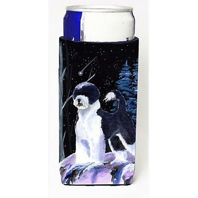 Starry Night Portuguese Water Dog Michelob Ultra bottle sleeves For Slim Cans