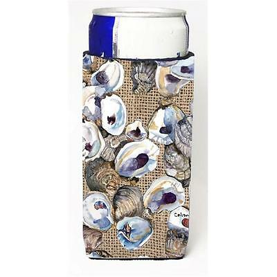 Oyster On Faux Burlap Michelob Ultra bottle sleeves For Slim Cans 12 oz. • AUD 47.47