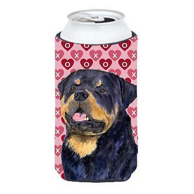 Rottweiler Hearts Love And Valentines Day Portrait Tall Boy bottle sleeve Hugger