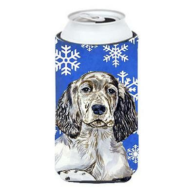 English Setter Winter Snowflakes Holiday Tall Boy bottle sleeve Hugger 22 To ...