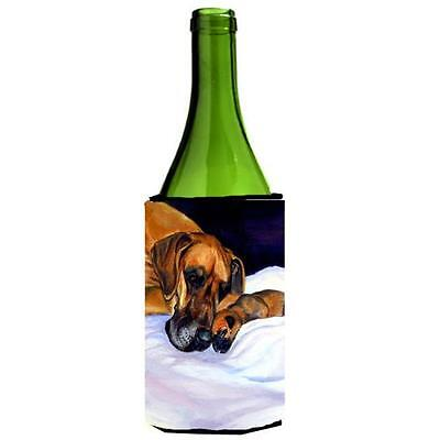 Natural Eared Fawn Great Dane Momma And Puppy Wine bottle sleeve Hugger 24 oz.