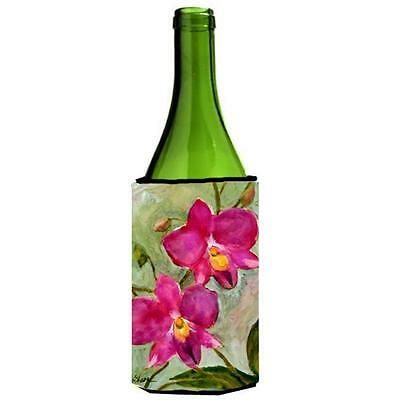 Carolines Treasures MM6052LITERK Flower Orchid Wine bottle sleeve Hugger • AUD 48.26