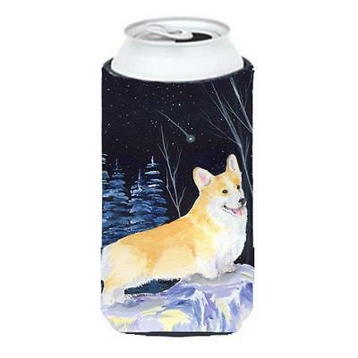 Starry Night Corgi Tall Boy bottle sleeve Hugger 22 To 24 oz.