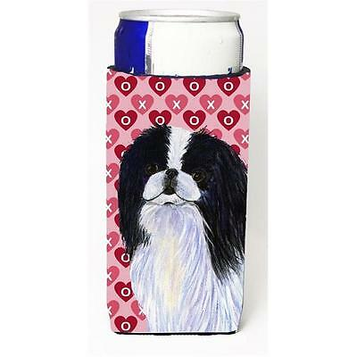 Japanese Chin Hearts Love And Valentines Day Portrait Michelob Ultra bottle s...
