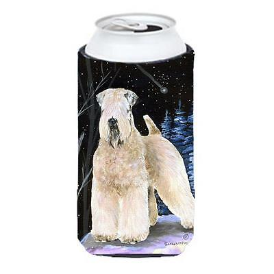 Starry Night Wheaten Terrier Soft Coated Tall Boy bottle sleeve Hugger 22 To ...
