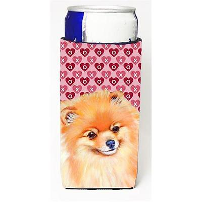 Pomeranian Hearts Love and Valentines Day Portrait Michelob Ultra bottle slee...