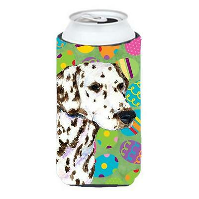 Carolines Treasures Dalmatian Easter Eggtravaganza Tall Boy bottle sleeve Hugger