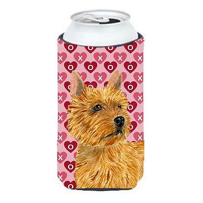 Norwich Terrier Hearts Love And Valentines Day Tall Boy bottle sleeve Hugger ...