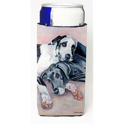 Black And Harlequin Great Dane Michelob Ultra bottle sleeves For Slim Cans 12...