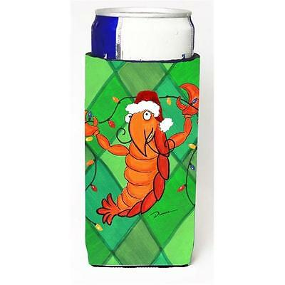 Crawfish Christmas Lights Michelob Ultra bottle sleeve for Slim Can