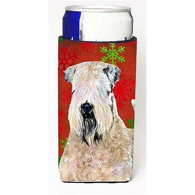 Wheaten Terrier Soft Coated Red Snowflakes Holiday Christmas Michelob Ultra b...