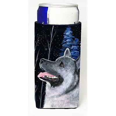 Starry Night Norwegian Elkhound Michelob Ultra bottle sleeves For Slim Cans