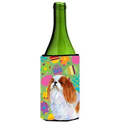 English Toy Spaniel Easter Eggtravaganza Wine bottle sleeve Hugger 24 Oz.