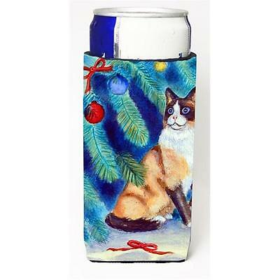 Christmas Tree Cat Michelob Ultra bottle sleeves For Slim Cans 12 oz.
