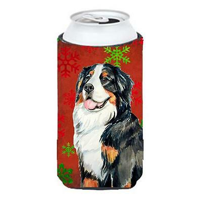 Bernese Mountain Dog Snowflakes Holiday Christmas Tall Boy bottle sleeve Hugger