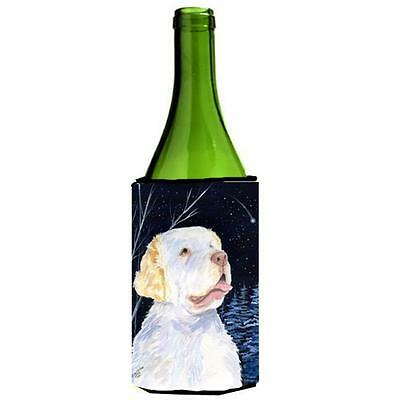 Starry Night Clumber Spaniel Wine bottle sleeve Hugger 24 oz.