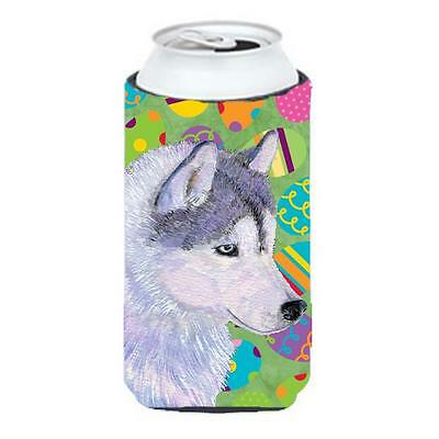 Siberian Husky Easter Eggtravaganza Tall Boy bottle sleeve Hugger