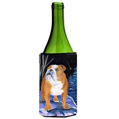 Carolines Treasures Starry Night English Bulldog Wine bottle sleeve Hugger