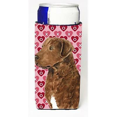 Chesapeake Bay Retriever Hearts Love And Valentines Day Michelob Ultra bottle...