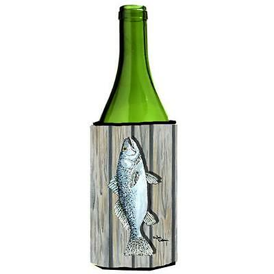 Carolines Treasures 8496LITERK Fish Trout Wine bottle sleeve Hugger
