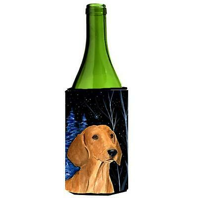 Carolines Treasures Starry Night Dachshund Wine bottle sleeve Hugger