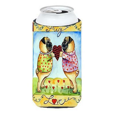 Pug Love Pug Love Valentines Day Tall Boy bottle sleeve Hugger